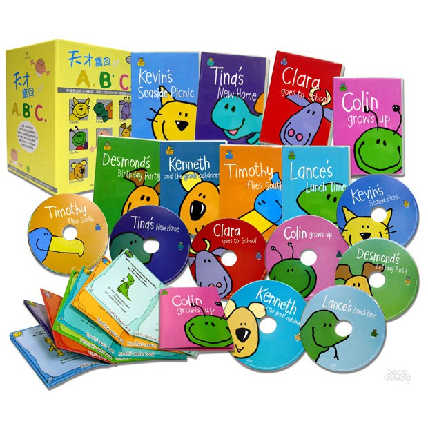 ★最佳英語啟蒙Audio CD小朋友專用 ★英國知名卡通動物,帶領小朋友輕鬆進入學習英文的領域。 這是一套融合英式正統文化與美式活潑教學的有聲CD,一套共分為8張,每張CD都有一個小朋友喜愛的動物化身