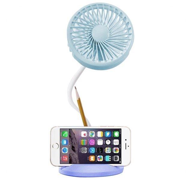 LED四合一多功能風扇 檯燈/手機支架/筆筒 USB電風扇 手機支架桌面風扇 USB電扇 USB風扇