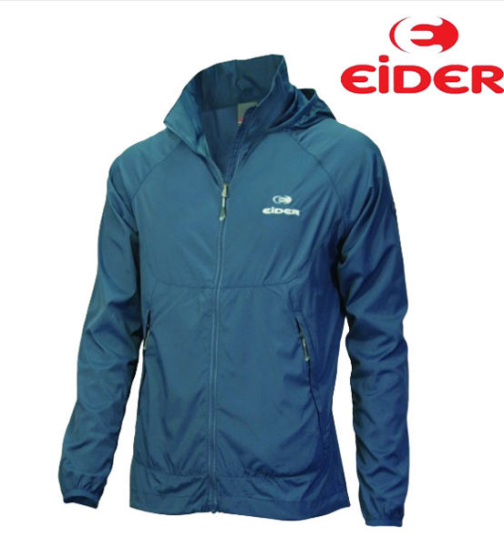 EIDER 法國品牌 防風抗水 防曬UV 紫外線/ 排汗透氣 短版薄外套 (EIT1103 灰藍) 女