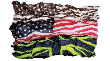 uniform experiment 新款 帥氣國旗圍巾