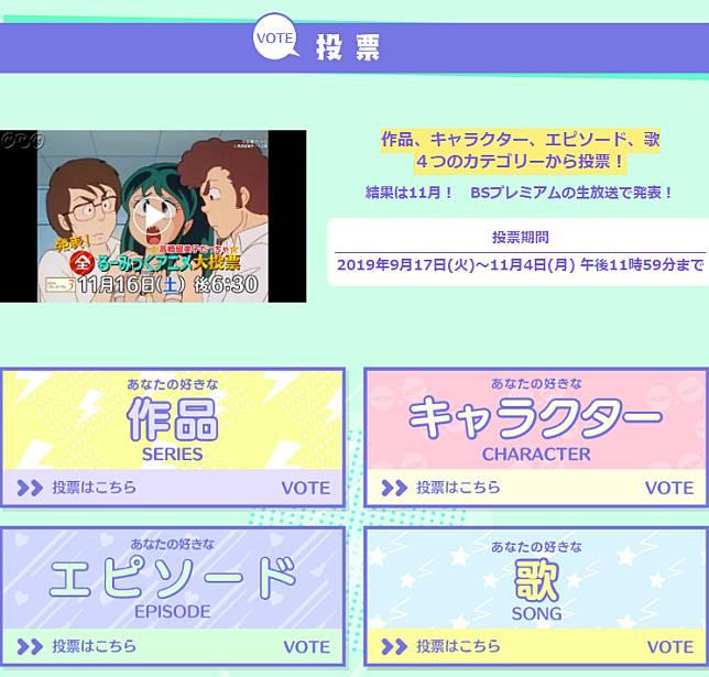 るー みっ く アニメ 大 投票