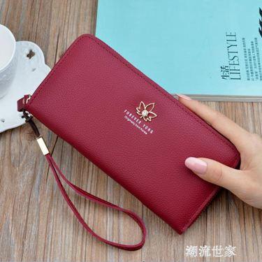 女士錢包女新款長款時尚拉?多功能大容量錢夾韓版卡包手拿包