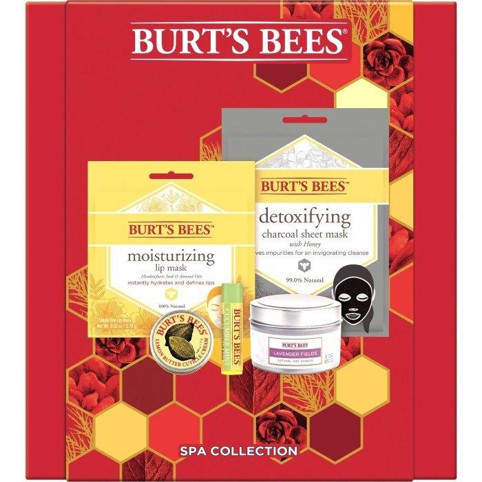 【彤彤小舖】Burt's Bees SPA保養禮盒組 5件式 護唇膏 指甲修護霜 唇膜 面膜 蠟燭 超值禮盒