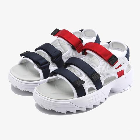 FILA DISRUPTOR SANDAL中性涼鞋-紅藍白 4-S134T-125