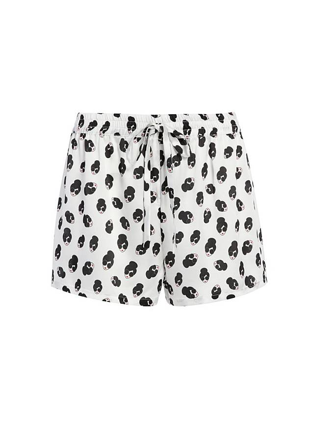 alice + olivia x Morgan Lane白色Stacey頭像短褲(互聯網)