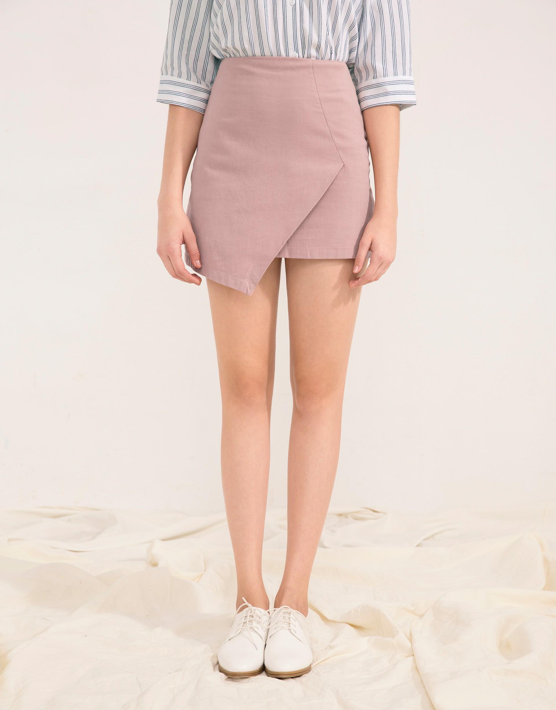 PAZZO+簡約造型斜口裙