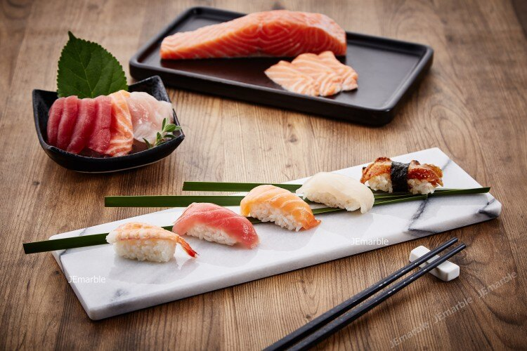 天然大理石壽司盤/生魚片盤/置物盤/日式料理/造型餐盤/攝影
