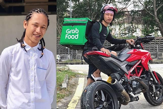 Pengemudi Grab Food tunggangi superbike Ducati Hypermotard 950 untuk antarkan makanan