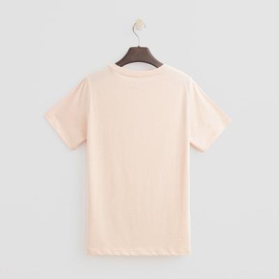 Hang Ten - 女裝 - 有機棉-簡約純色英文字T桖 - 粉橘