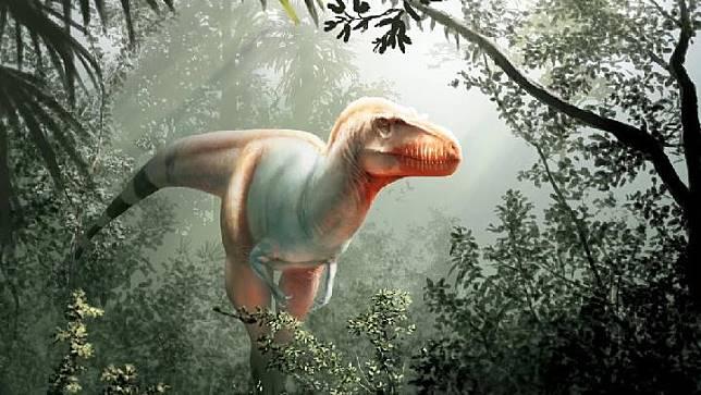 Ilustrasi Thanatotheristes degrootorum. Kredit: Julius Csotonyi
