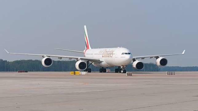Pesawat Airbus A340-500. (Shutterstock)