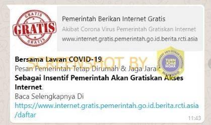 Cek Fakta Benarkah Pemerintah Gratiskan Akses Internet Karena Corona