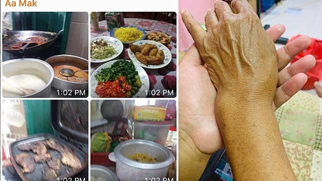網友Lela Jamil在推特上抱怨,媽媽手骨折忍傷煮飯,卻遭親戚失約。圖/翻攝自Lela Jamil推特