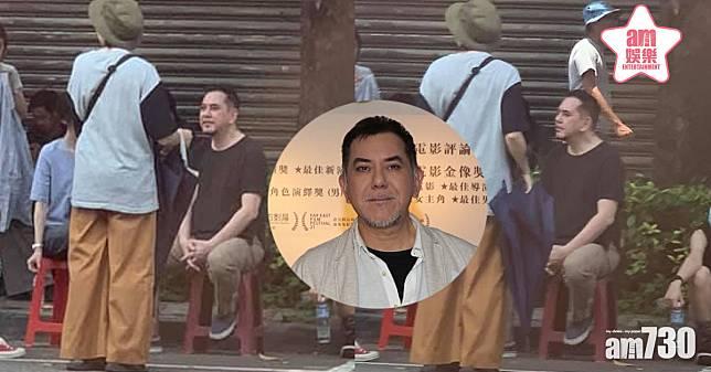 台灣網民捕獲黃秋生 街邊坐膠凳無架子