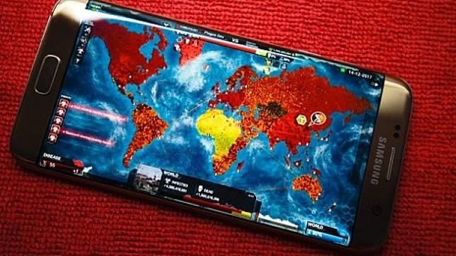Ilustrasi game Plague Inc di sebuah ponsel. [Shutterstock]