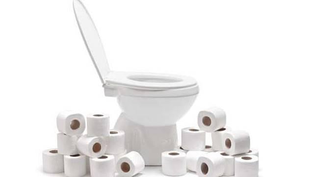 Ilustrasi toilet dan tisu toilet. (Shutterstock)