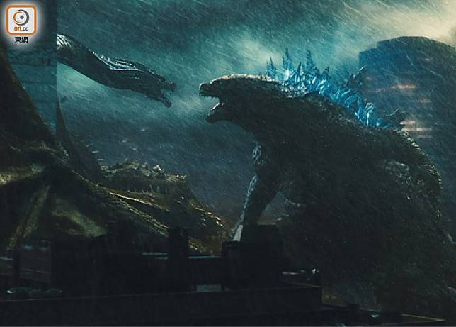 《哥斯拉II:王者巨獸》將日本東寶時代的3大經典怪獸摩斯拉、拉頓、基多拉集合在一套電影上。(互聯網)