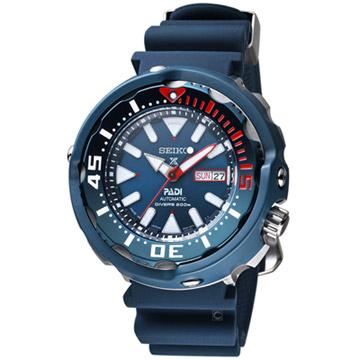 原廠公司貨防水200米潛水錶星期、日期功能顯示SEIKO X PADI聯名錶款料號:4R36-05V0B SRPA83J1