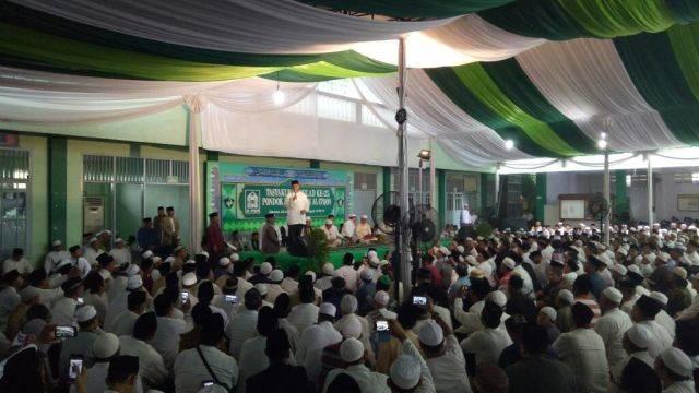 Anies menghadiri tasyakuran Pondok Al-Itqon (Foto: Aria Pradana/kumparan)