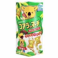◎樂天-小熊餅乾家庭號 巧克力風味195g ◎ ◎品牌:Lotte樂天品牌國家:日本類型:巧克力種類:黑巧克力葷/素:奶蛋素保存方法:常溫成分:植物油、小麥粉、砂糖、乳糖、可可塊、澱粉、全脂奶粉、蛋、
