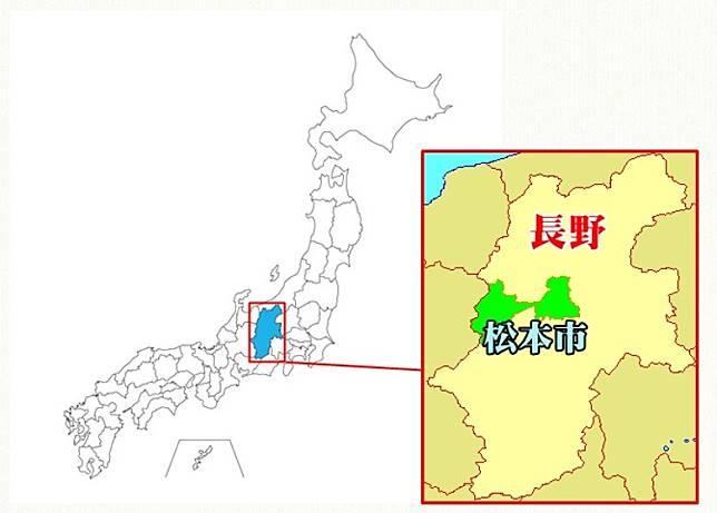 松本市位置圖(互聯網)