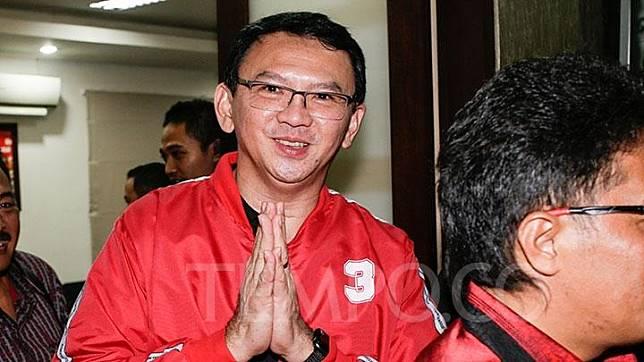 Basuki Tjahaja Purnama alias BTP, previously known as Ahok, visited PDIP Bali chapter office in Denpasar, Bali, Friday, Feb. 8, 2019. Johannes P. Christo