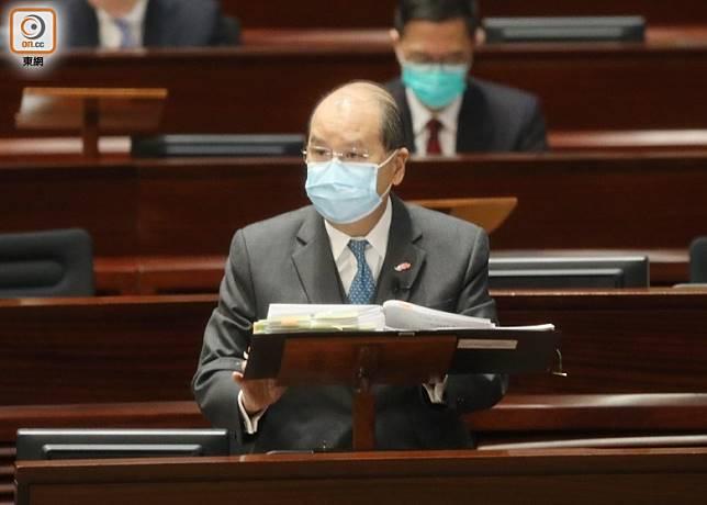 張建宗昨指新冠肺炎疫情已經受控。
