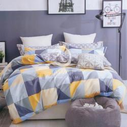 海派紳士 雙人純棉四件式涼被床包組