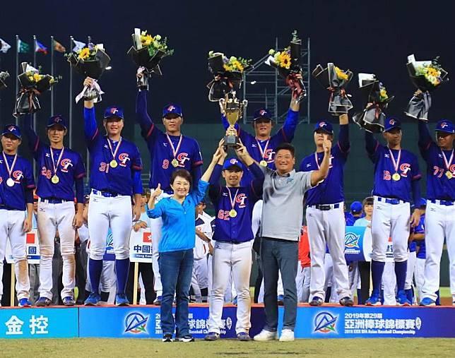 台中是寶地!盧秀燕喜賀睽違18年中華隊再奪冠