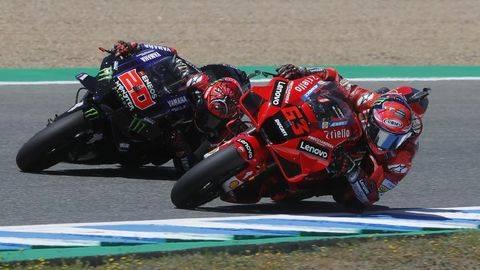 Jack Miller menang MotoGP Spanyol 2021. (REUTERS/JON NAZCA)