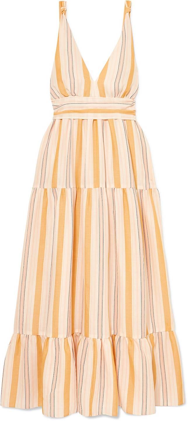 LEMLEM黃色條子連身裙(互聯網)
