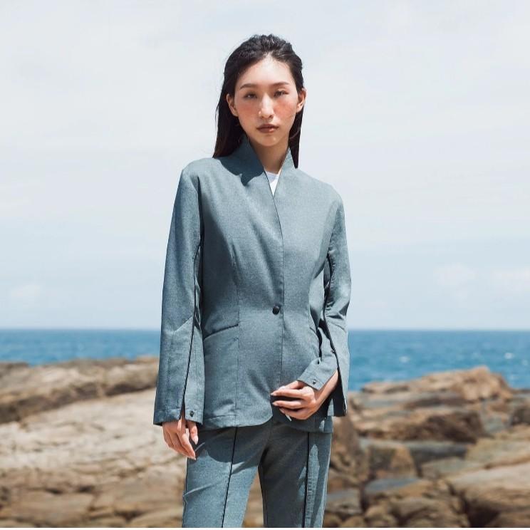 ECO-lor 女士西裝外套 (藍綠色)