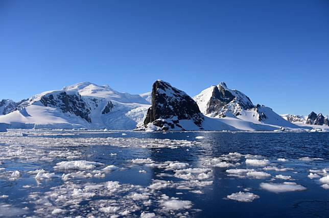 In this file photo taken on November 27, 2019, view of Orne Harbour in South Shetland Islands, Antarctica. Brazilian scientists registered Antarctic temperature above 20C for first time on record at Seymour Island on February 9, 2020.