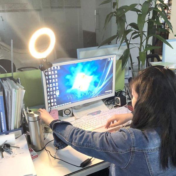 補光燈手機直播補光燈環形美光燈主播美顏嫩膚電腦房間室內小型打光燈 萊俐亞