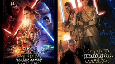 《星際大戰七部曲:原力覺醒》正式版海報曝光 各角色手持武器亮相!