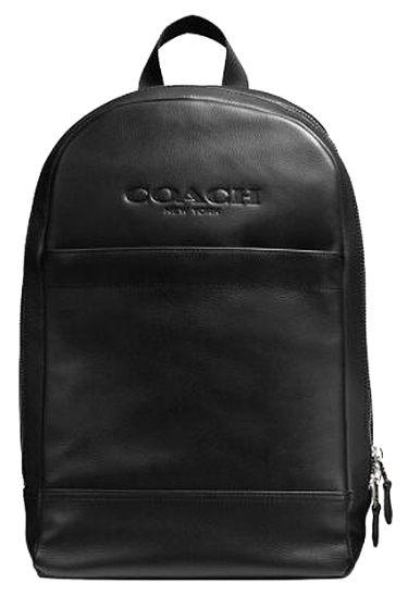 COACH F54135 男包男士休閑運動皮革背包黑色雙肩包