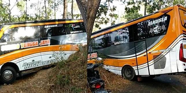Bus tersesat di hutan gunung Tunggangan (Merdeka.com)