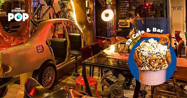 หม่ำเบอร์เกอร์กับมิลก์เชกที่ 53 Cafe & Bar ร้านที่ยกโรงรถอเมริกันมาใส่ในคาเฟ่