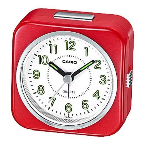 桌上型指針鬧鐘,數字刻度漆有螢光塗料,夜間判讀同樣便利。 ----------商品規格---------- 錶殼 / 錶圈材質:樹脂 鈴聲鬧鈴 貪睡鬧鈴 微型照明器 精確度:每月約 ±20秒 大約電池