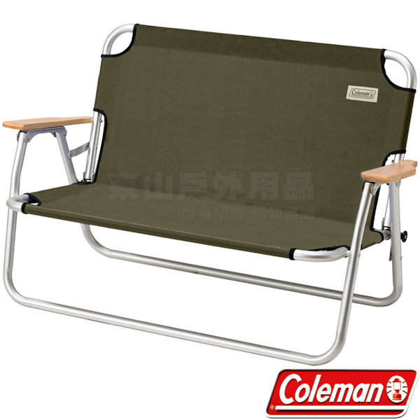 Coleman CM-33807 輕鬆折疊長椅 雙人休閒椅/戶外導演椅/情人折合椅/野餐露營椅/低腳椅 公司貨