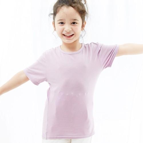 Edenswear 伊登詩 - 海藻 Seacell 機能系列-小童圓領短袖 TEE-淺紫