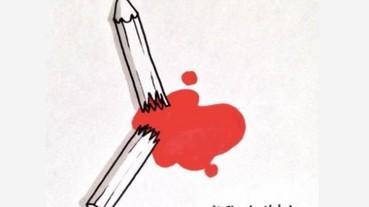 「筆斷了,有時還會流血」 法國查理周刊遭恐怖攻擊 各界紛紛以漫畫悼念