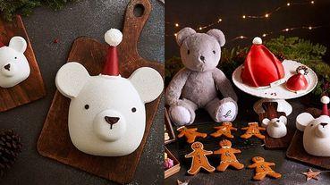 聖誕節最搶戲的小熊蛋糕限定開賣!《agnès b. CAFÉ》聖誕帽蛋糕、金色鐵盒薑餅人禮盒、灰色小熊現在就買的到!