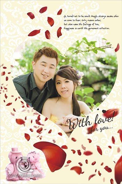 【ARDENNES】婚禮佈置系列 海報 情人節禮物 / 浪漫情人寫真 WK013-無盡的愛