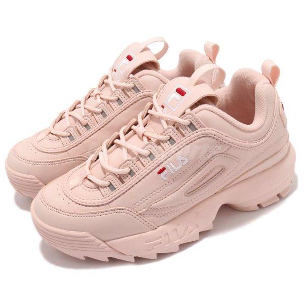 Fila 鋸齒鞋 Disruptor 2 粉紅 老爹鞋 韓妞必備 女鞋 復古運動鞋【PUMP306】 4C113T500