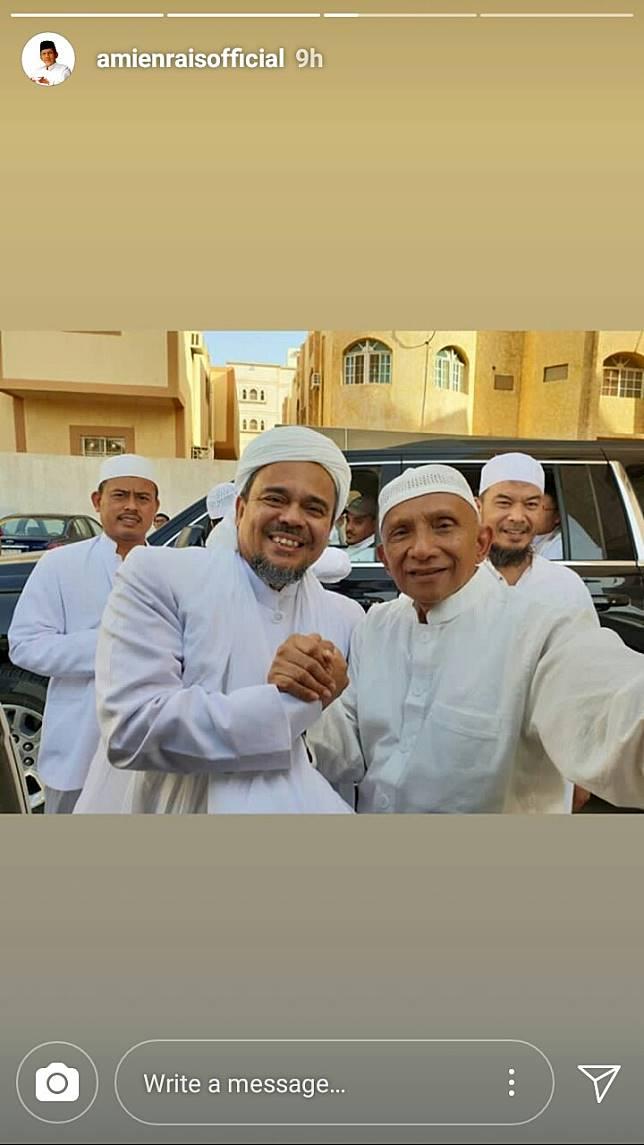 Image result for Instagram Hapus Postingan Amien Rais Bersama Rizieq dan Prabowo