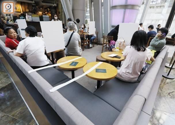 措施包括食肆人數不得超過可容納總額的60%,並限8人一枱。