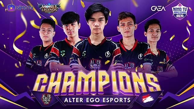 Selamat, Alter Ego Esports Juara NMA Mobile Legends!
