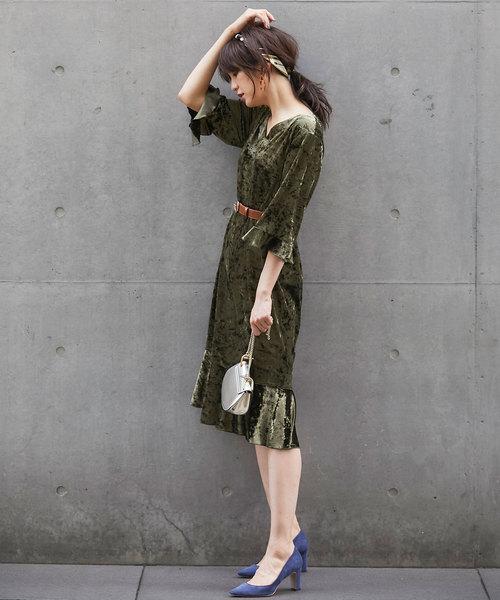 絨布連身裙