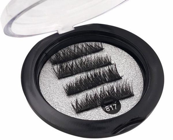 4片裝三磁鐵假睫毛 3D磁性假眼睫毛/天然睫毛/延長手工睫毛《NailsMall美甲美睫批發》